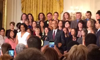 President Obama welcomes attendees