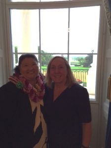 Sharing the moment with Sylvia Norton at the White House