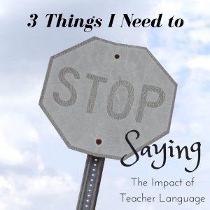Three Things I Need to