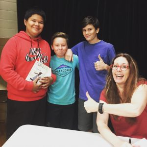Laurie Halse Anderson with O. Henry students