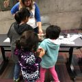 Children design and make their own buttons
