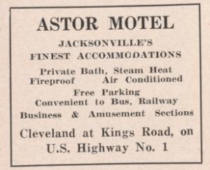 Astor Motel Ad