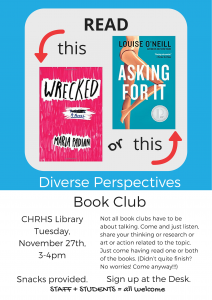second promo flier for Diverse Perspectives Book Club