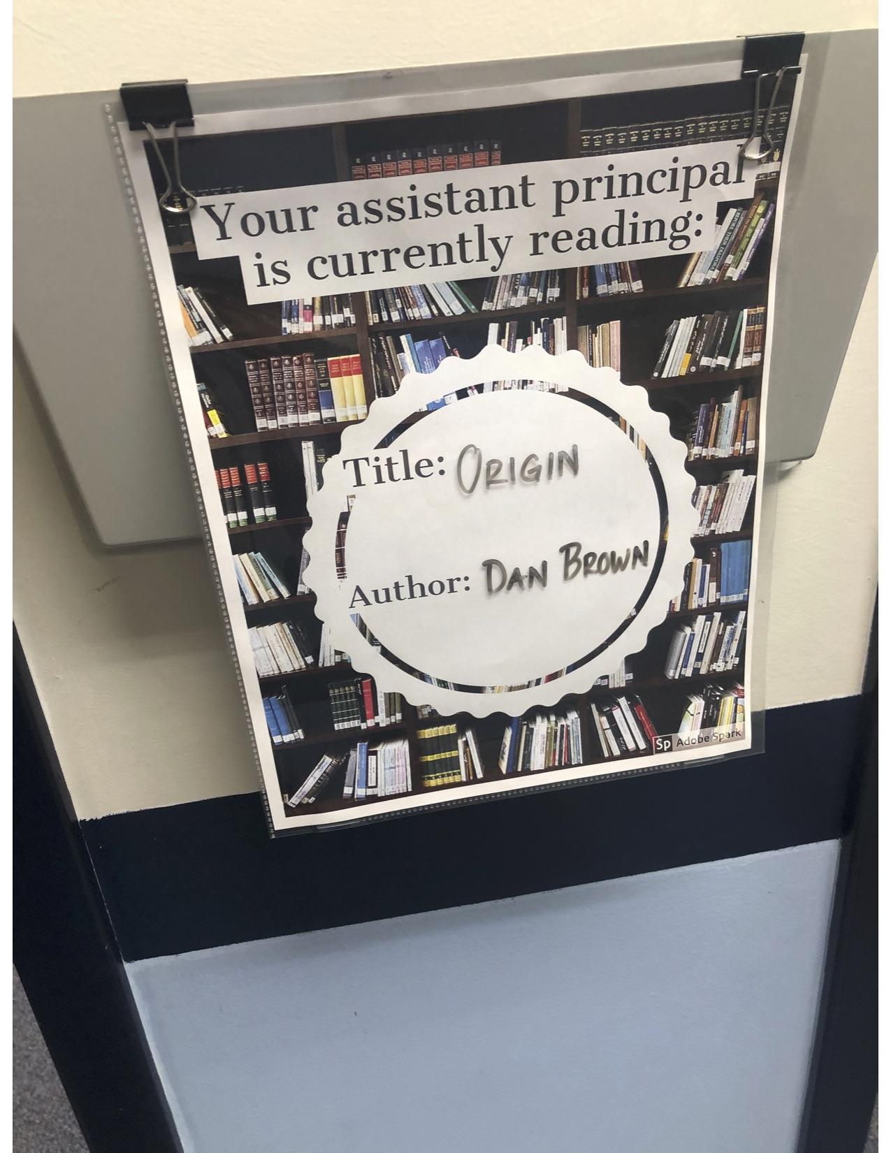 Assistant Principal Sign