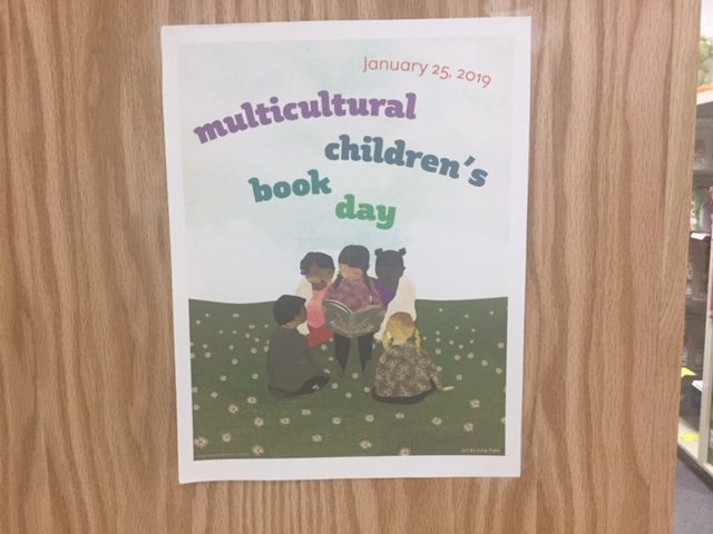 Flyer for multicultural childrens book day 2019