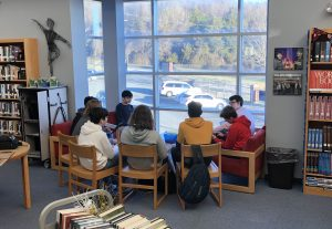 Students Gather at the HST Library