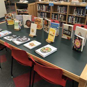 Cookbooks on display