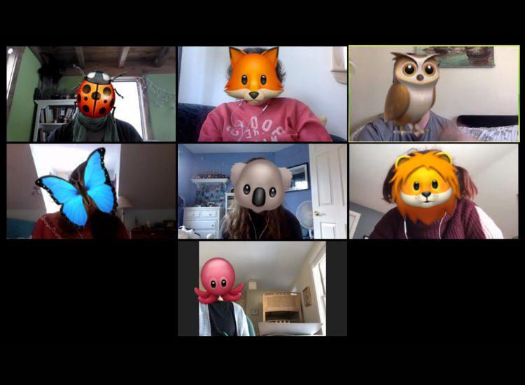 Screenshot of a Zoom Virtual Book Club