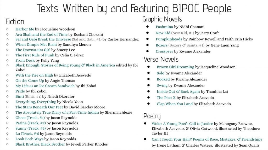Connecting to the World - BIPOC titles