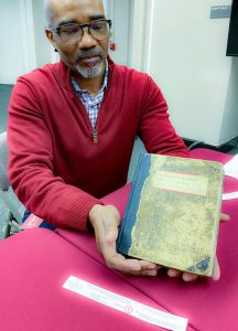 Don Tate with William Still's Journal C