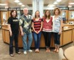 Blue Valley High School Library Staff = Geli Mackey, Ken Stewart, Jessica Edwards, Michele Wirt, and Brenda Bruehert.