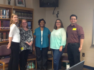 Our community librarians visit with our senior English research classes.