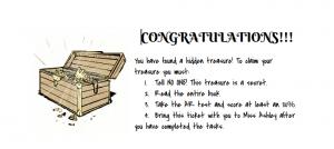 Hidden Treasure Ticket