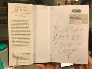 Defaced library book in Evanston IL
