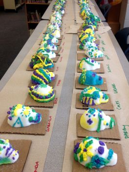 Student decorated Sugar Skulls