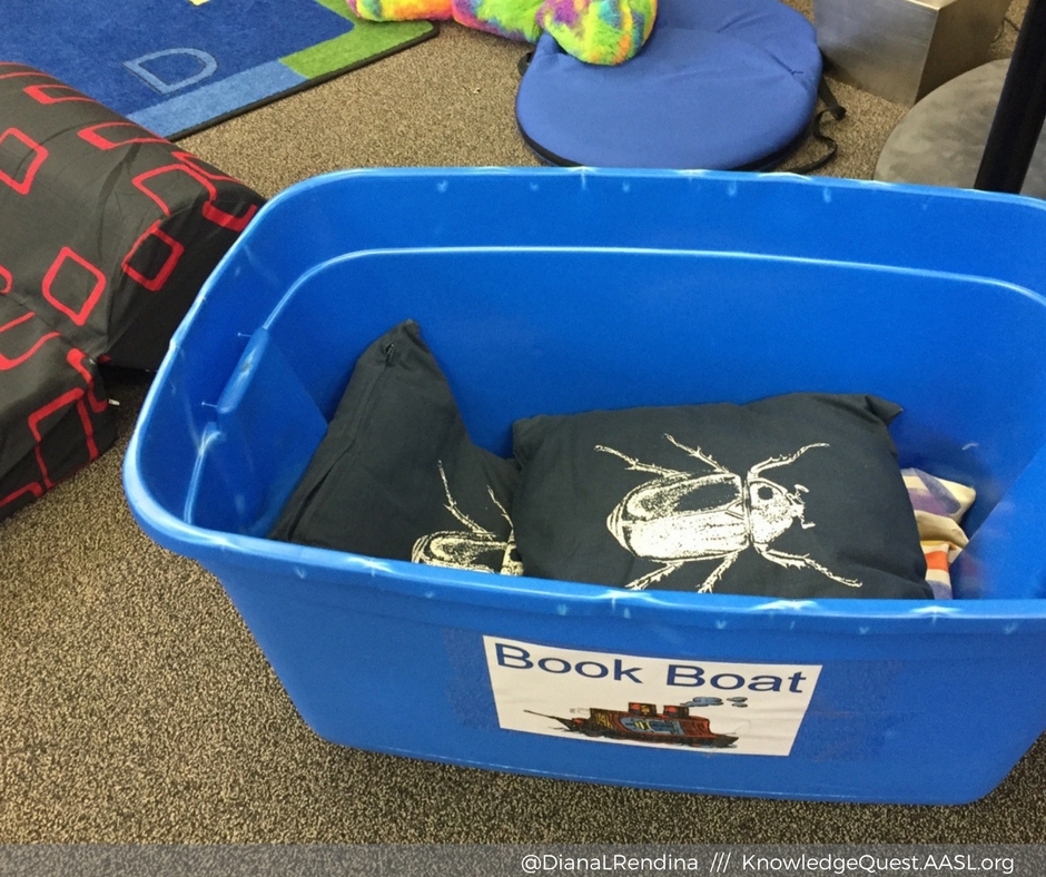 "DIY ""Book Boat"" at Keheewin Elementary in Edmonton, AB, Canada"