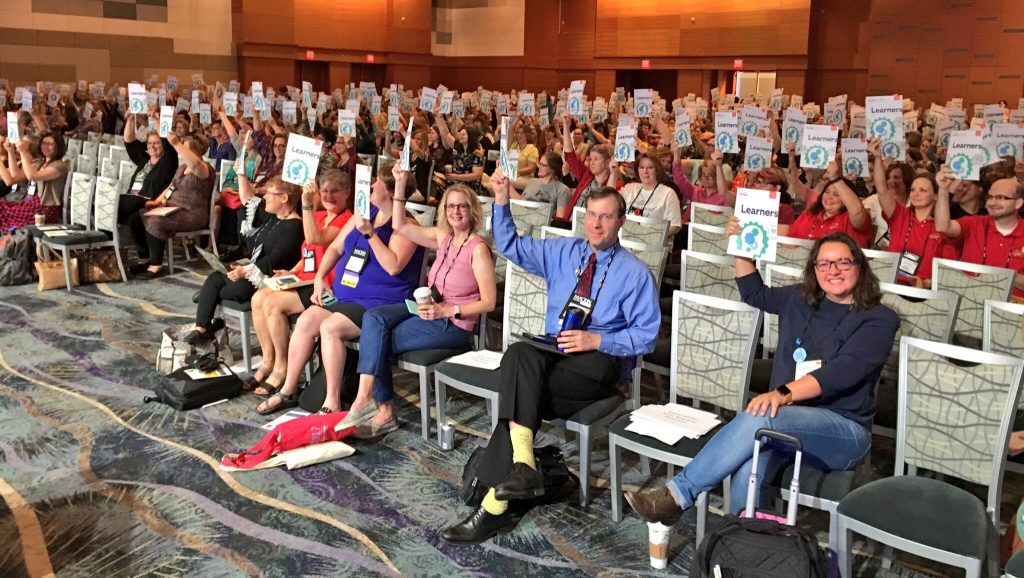 AASL17 attendees holding up new standards