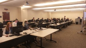 Senior Students at the MTSU Library