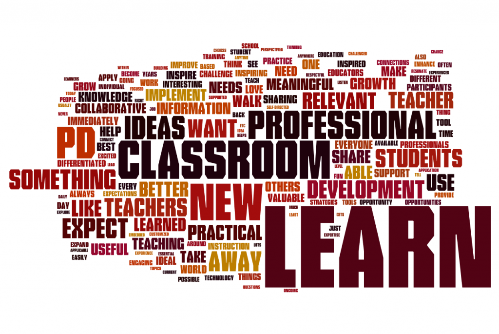 What expectations do you have for professional development (Edcamp Philly 2012 Survey)