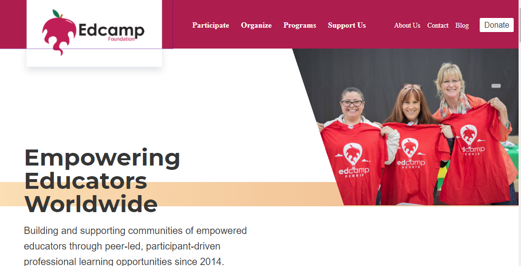 Edcamp Foundation Website