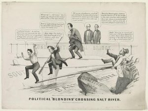 Political Blondins Crossing Salt River