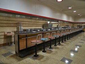 "Lunch counter at the old Woolworth's ""five and dime"" store"