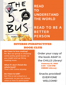 third promo flier Diverse Perspectives Book Club