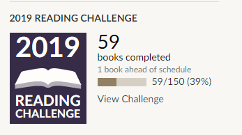 Steve's 2019 Reading Challenge goal and progress