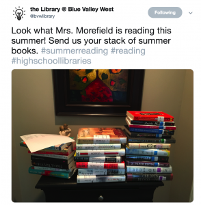 Example book stack