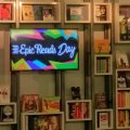 Lobby of HarperCollins on Epic Reads Day