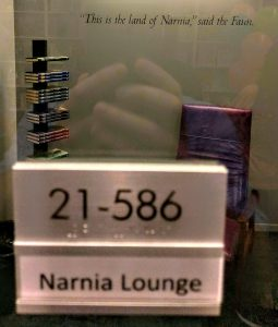 The Narnia Lounge at HarperCollins