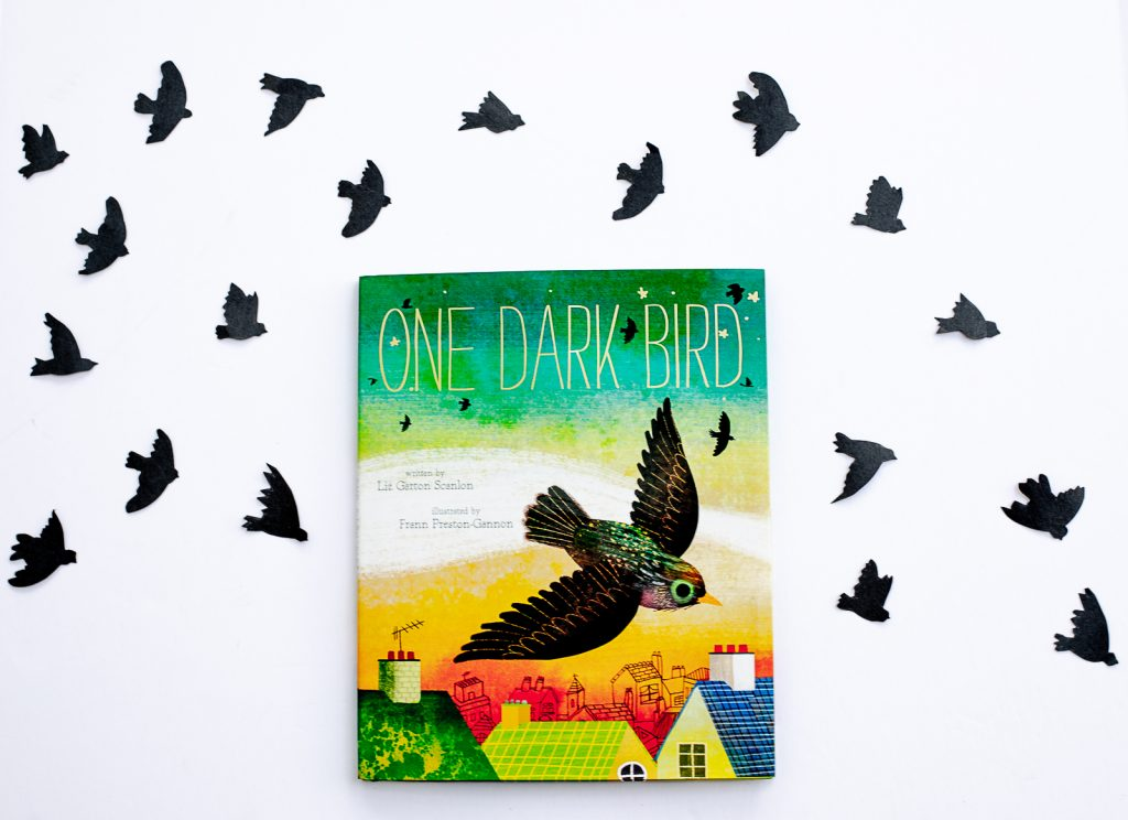 The cover of One Dark Bird by Liz Garton Scanlon and Frann Preston-Gannon