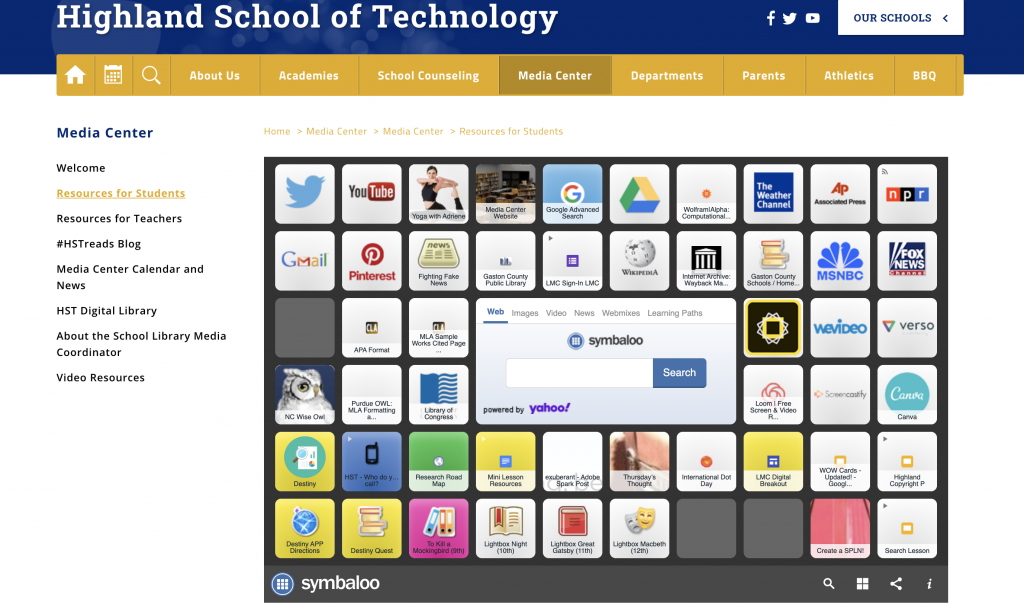 Symbaloo for Students