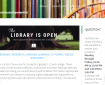 """The Library Is Open"" home page"