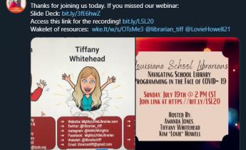 Amanda Jones shares the links to resources
