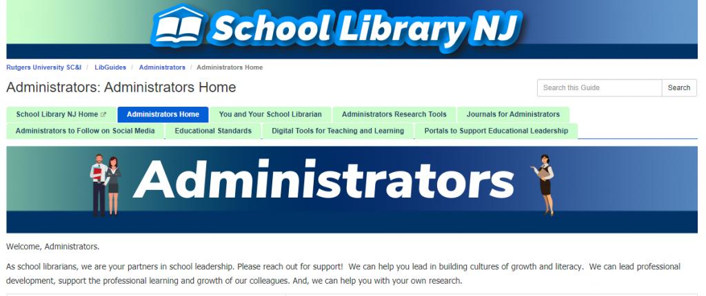 SLNJ's Administrators home page