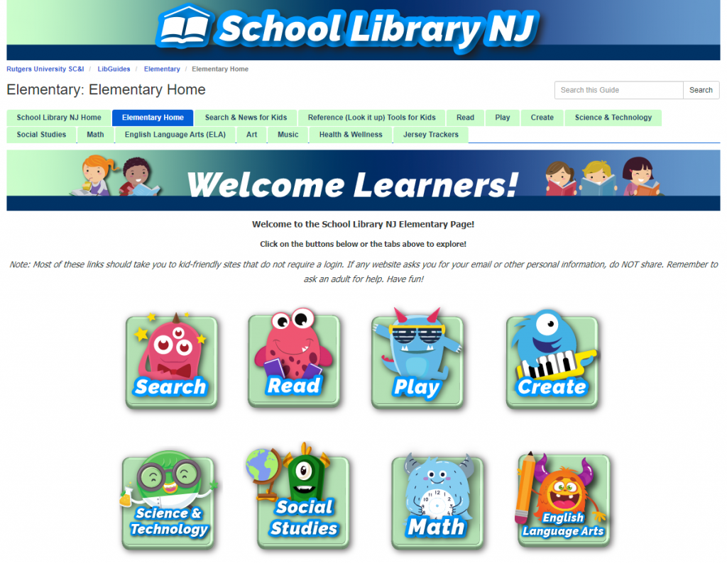 SLNJ's Elementary home page