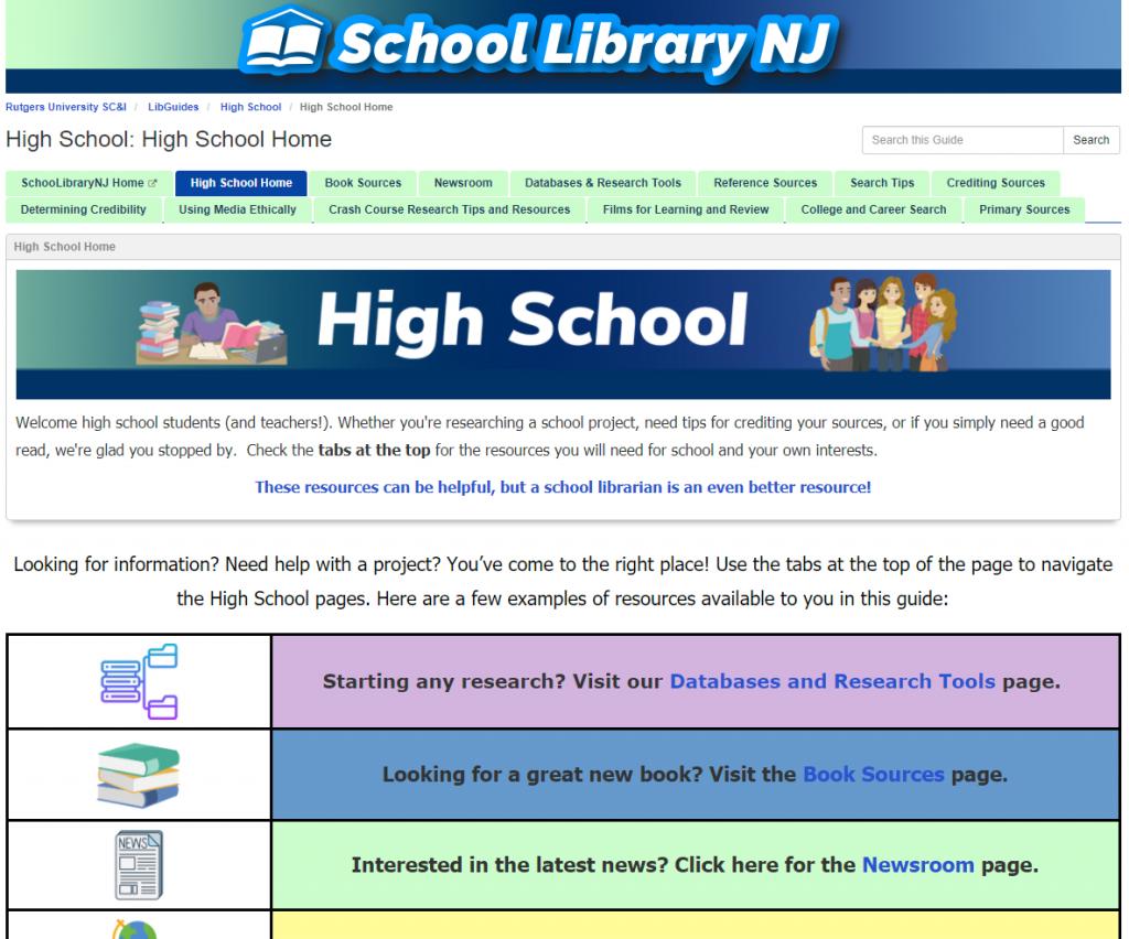 SLNJ's High School home page