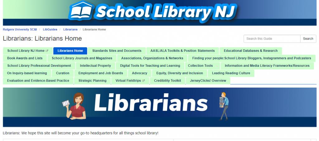 SLNJ's Librarians home page