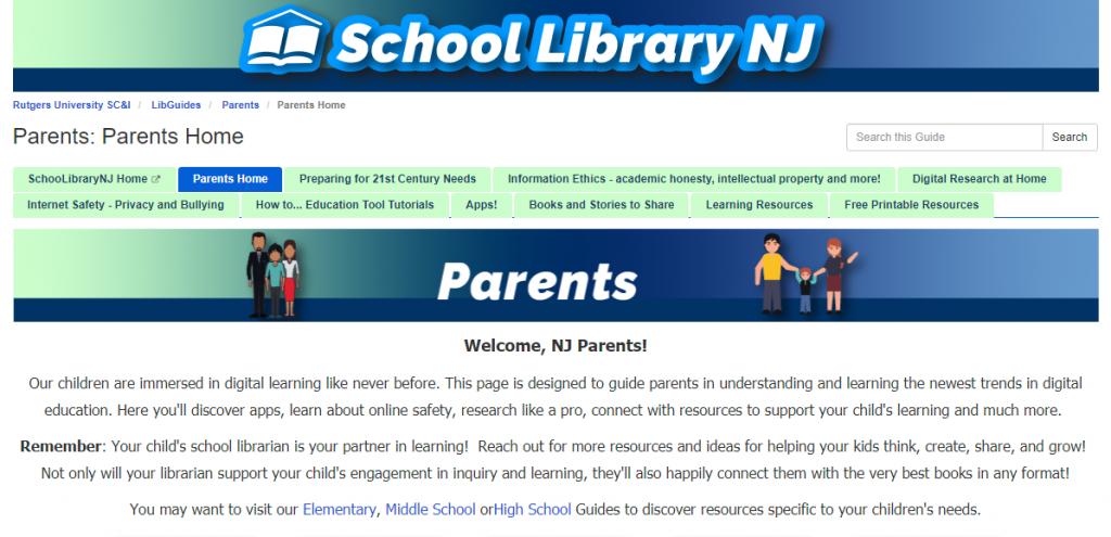 SLNJ's Parent home page