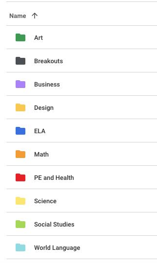 Google Drive Folders