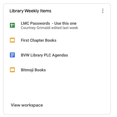 Google Drive Workspaces